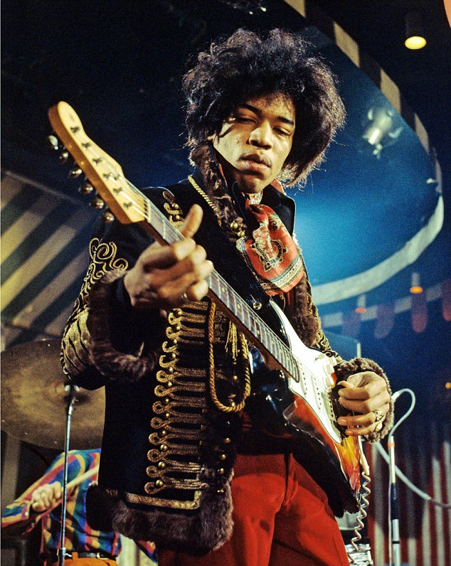 Mandatory Credit: Photo by MARC SHARRATT / Rex Features (16987c) The Jimi Hendrix Experience - Jimi Hendrix at the Marquee Club, London Various - 1967
